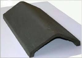 Universal Angle Clay Ridge Tile 340mm Black