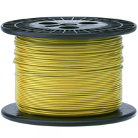 Electronic Wire Tinned Copper 1000Meters Spool Yellow