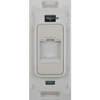 Flatplate Grid Painted White Telephone Point Module|LV0701.1341