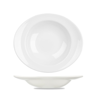 Pasta Plate Oval 31x26.5cm 21oz 59.6cl Carton of 12