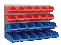 FAITHFULL 24 Plastic Storage Bins with Wall Panel