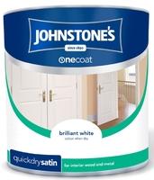 JOHNSTONES QUICK DRYING SATINWOOD BRILLIANT WHITE 1.25 LTR