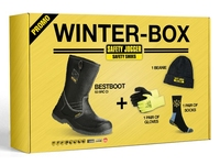 Winter Box Black Rigger Boot Pack Size 7-41