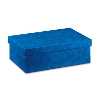 BOX GIFT & LID 300X200X100MM BLUE 2 TONE