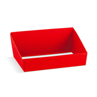 BOX TRAY RED HIGH BACK 310X240X105MM RED