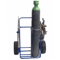 Twin Oxy Acetyline Cylinder Gas Bottle Trolley