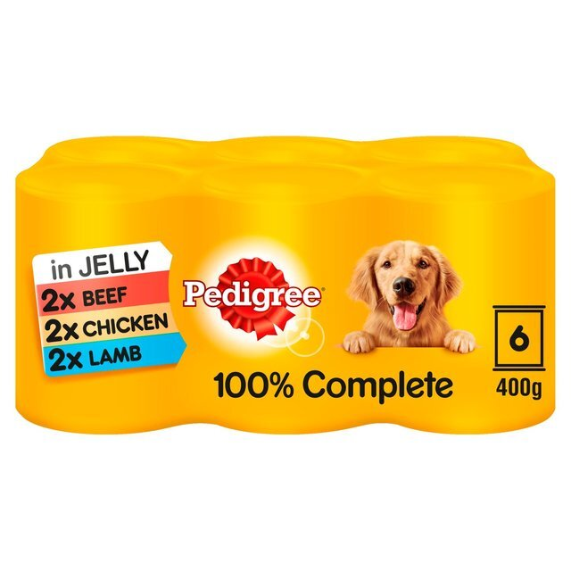 Pedigree Mixed Cans in Jelly 4 x 6 x 400g