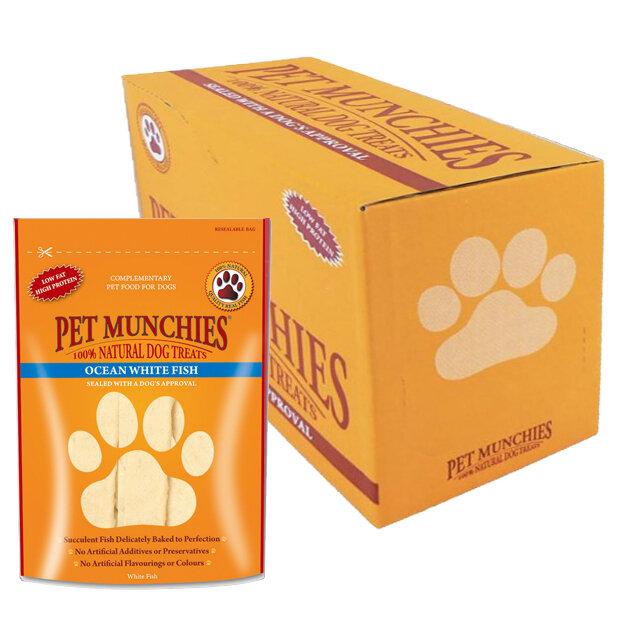 Pet Munchies Dog Treats Fish 8 x 100g