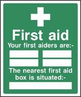First Aid Sign FAID0005-0552