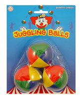Juggling Balls 3 carded. (Priced in singles, order in multiples of 12)