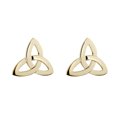 10K TRINITY KNOT STUD 11 MM POST
