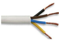 Flexible Cable 4 Core Circular White