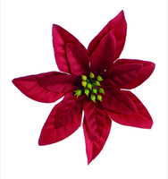 Artificial Flower Poinsettia - Red