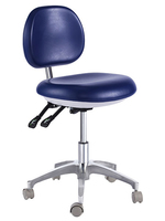 TRONWIND - MICROFIBRE LEATHER BLUE DOCTOR'S STOOL