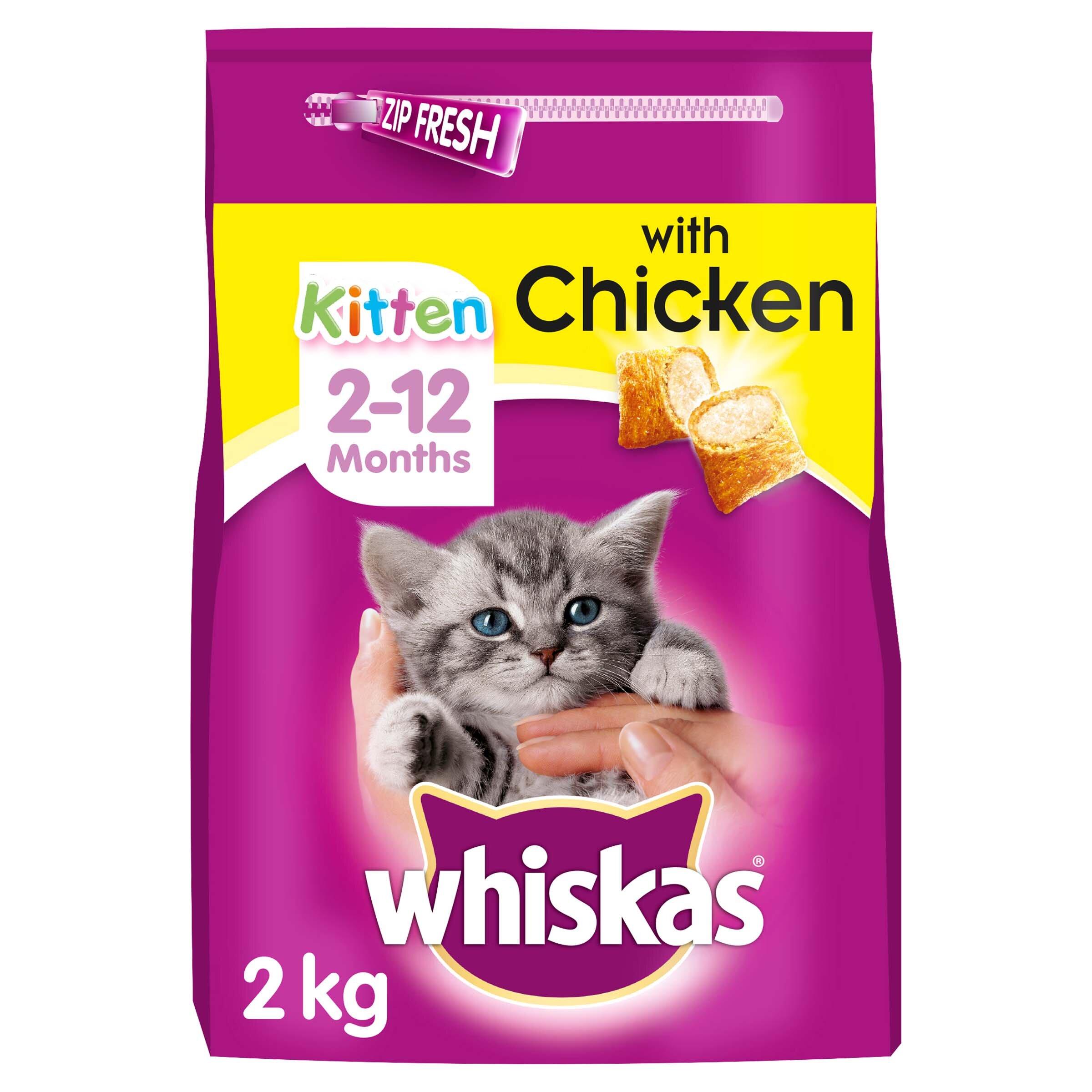 Whiskas Dry 2-12 Month Chicken Kitten Food 2kg