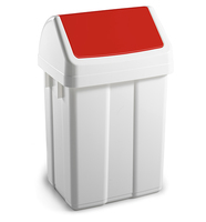 Max Swing Bin and Lid Red 25Ltr