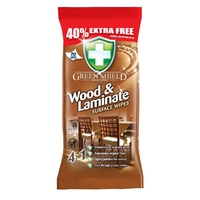 Green Shield Wood & Laminate Wipes, 70 Extra Large Sheets