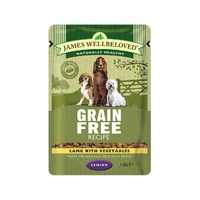 James Wellbeloved Senior Pouch Grain Free Lamb 100g 12pk x 1