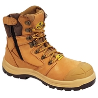 Mustang 7120Z Nitrile Sole 300°C Lace Up Zip Safety Boot with Scuff Cap