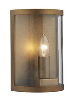 Dusk 1 Light Wall Light IP44, Natural Brass  | LV1802.0159