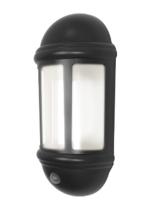 ANSELL Latina LED Half Lantern with PIR 8W Black