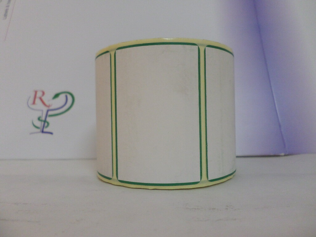 SHELF EDGE DIRECT THERMAL LABELS( with border