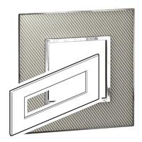 Arteor (British Standard) Plate 8 Module Square Woven Metal | LV0501.2800