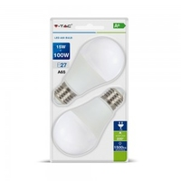 15W A65 LED E27 2700K Blister Pack