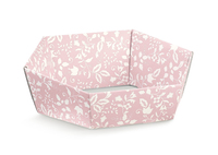 BOX TRAY HEX PINK FLOWER 290X230X85MM