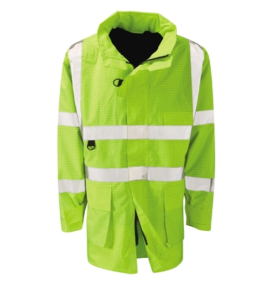 Etna Flame Retardant Anti Static Hi-Visibility Jacket Yellow