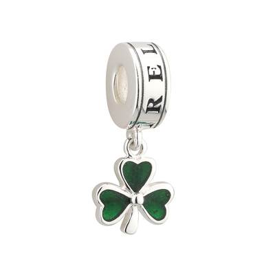 ENAMEL SHAMROCK DANGLE BEAD