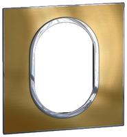Arteor (British Standard) Plate 3 Module 1 Gang Round Gold Brass | LV0501.2737