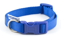 "Ancol Nylon Adjustable Collar Size 1-2 8"" - 14"" Blue x 1"