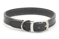 "Ancol Heritage Leather Collar Black 16"" x 1"