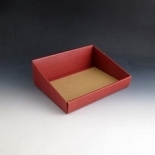 Small Burgandy Hamper tray