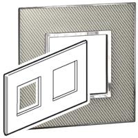 Arteor (British Standard) Plate 2x2 Module 2 Gang Sqaure Woven Metal | LV0501.2725