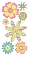 Heart Flowers Essential Craft Sticker.