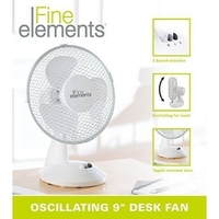 "FINE ELEMENTS 9"" OSCILLATING DESK FAN"