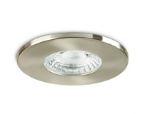 IP20 GU10 Fire Rated Downlight Fixed Brushed Steel