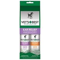 Vet's Best Clean Ear Wash & Dry Kit x 1