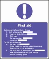 First Aid Sign FAID0013-0560