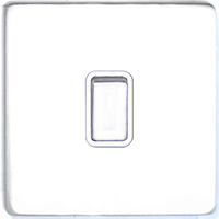 DETA Screwless Intermediate Switch White Metal White | LV0201.0025