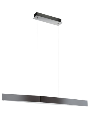 24w LED Bar Pendant Light in Black Chrome Effect. Warm White Light | LV1902.0008