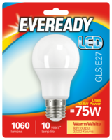 EVEREADY 10.8W (75W) E27 LED GLS 1060 LUMENS
