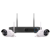 4CH HD 1TB DVR + 2PC White Bullet Camera Kit Wireless
