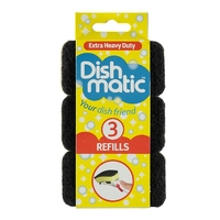 Dishmatic Spare Heads Black Extra Heavy Duty