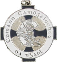 34mm Camogie Medal (Silver / Navy)