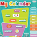 Close-up image of large magnetic wall calendar