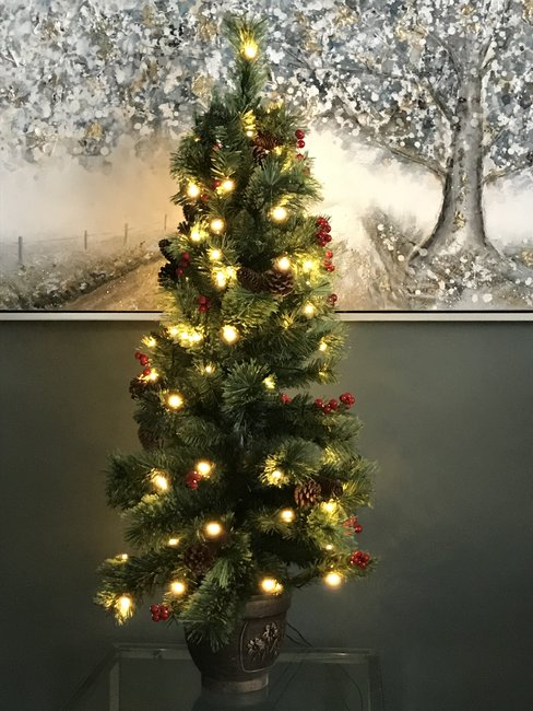 Christmas Tree 120cm in Urn with 100 Lights