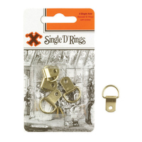 X Brass Single D Rings 4 Pack Blister